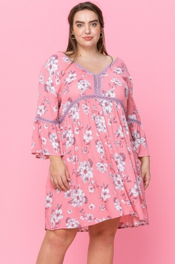 Pink candy plus size dress.